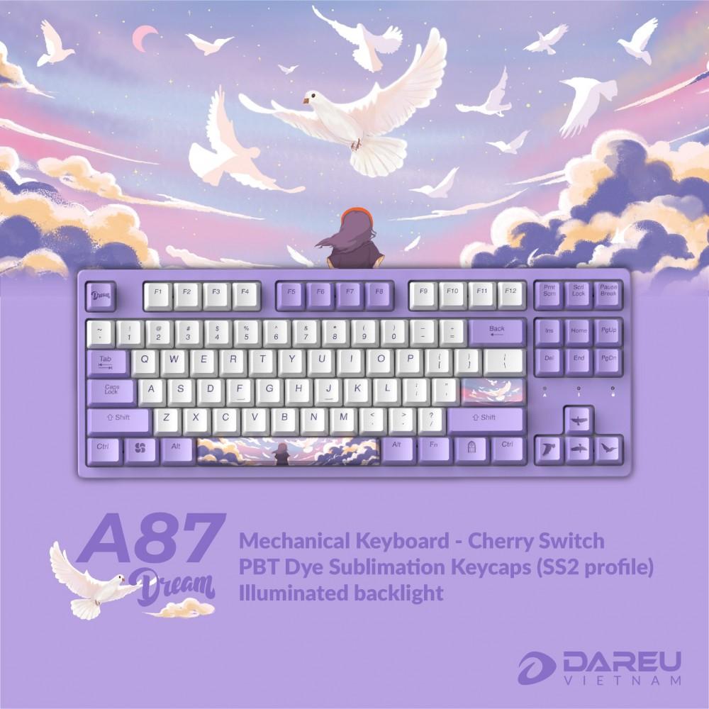 Bàn phím cơ DareU A87 DREAM Cherry Switch - Hàng chính hãng