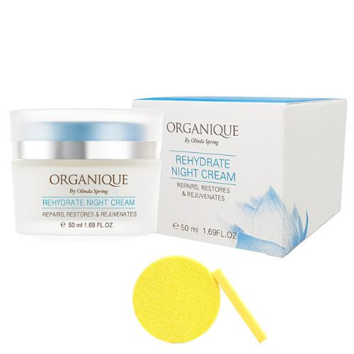 Kem Dưỡng Ẩm Ban Đêm Organique Rehydrate Night Cream (50ml) - Tặng Kèm Mút Rửa Mặt