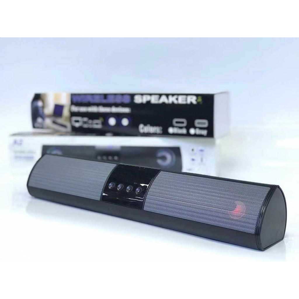 Loa bluetooth speaker A2 dáng dài 2 loa cực đỉnh - Hỗ trợ thẻ nhớ, đài FM