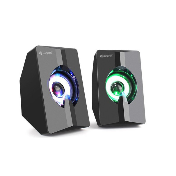 Loa 2.0 Kisonli L-2020 LED RGB - Màu Ngẫu Nhiên - Hàng Chính Hãng