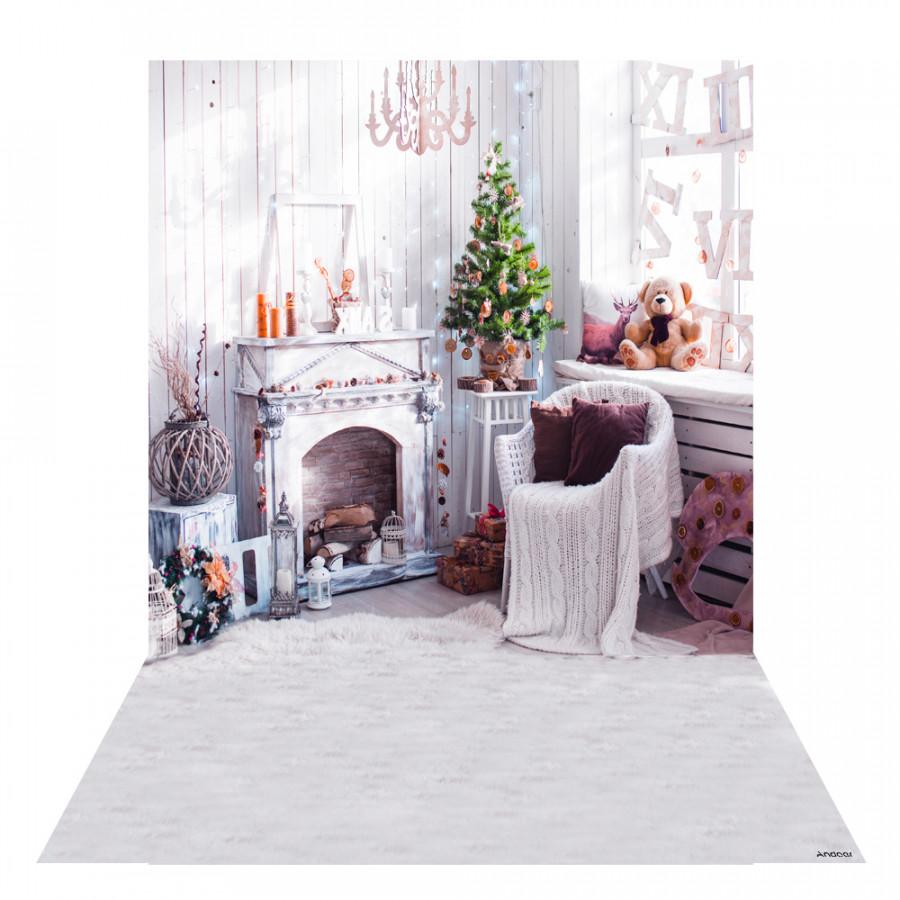 Andoer 1.5  2m Photography Background Backdrop Digital Printing Christmas Fireplace Sunlight Pattern for Photo Studio Pattern 22