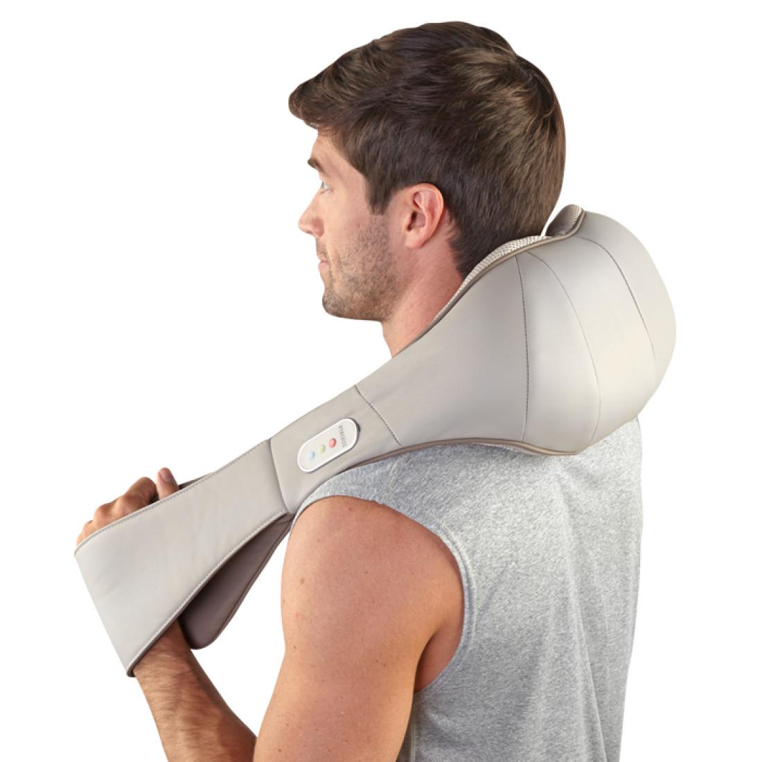 Đai massage USA cổ vai gáy pin sạc công nghệ SHIATSUTALK   điều khiển bằng giọng nói HoMedics NMS-675H nhập khẩu USA
