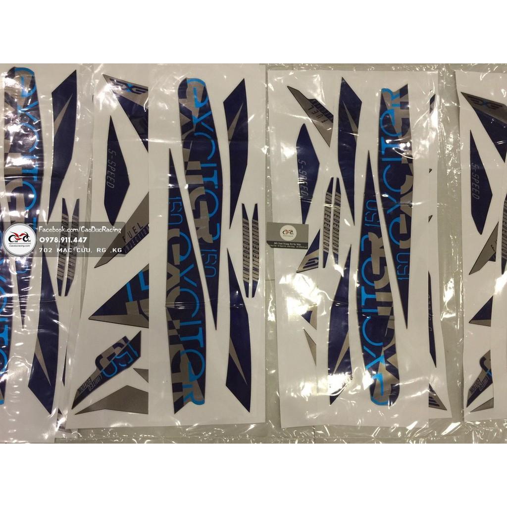 Tem Edition Ex150 - tem rời - DECAL KIM TUYẾN ÁNH KIM