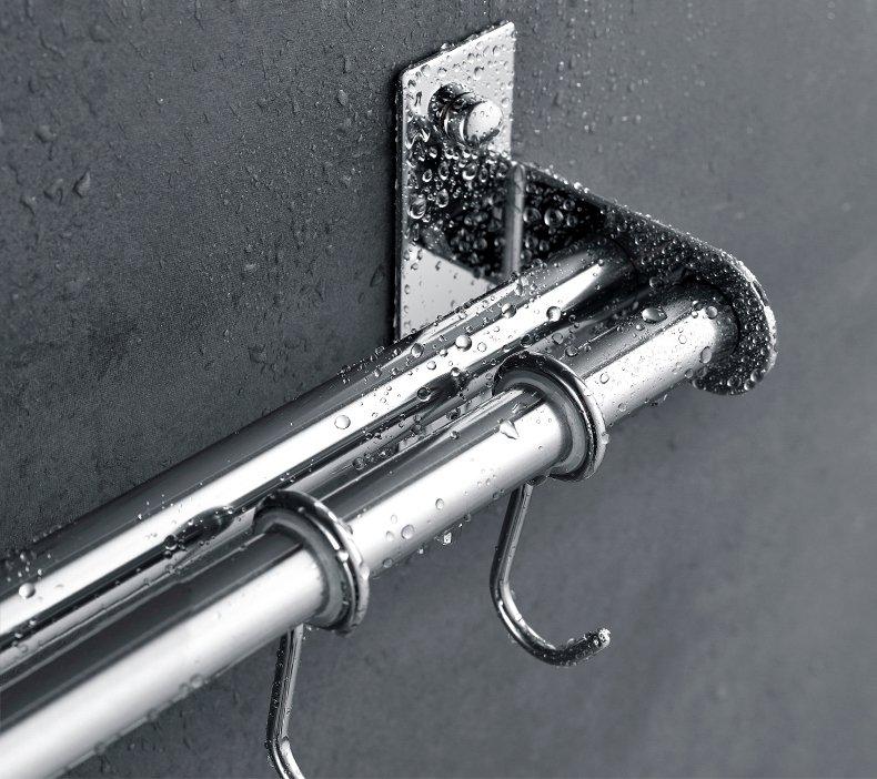 Kệ treo nhà bếp inox 304 kèm gài dao Gi-Home KB02