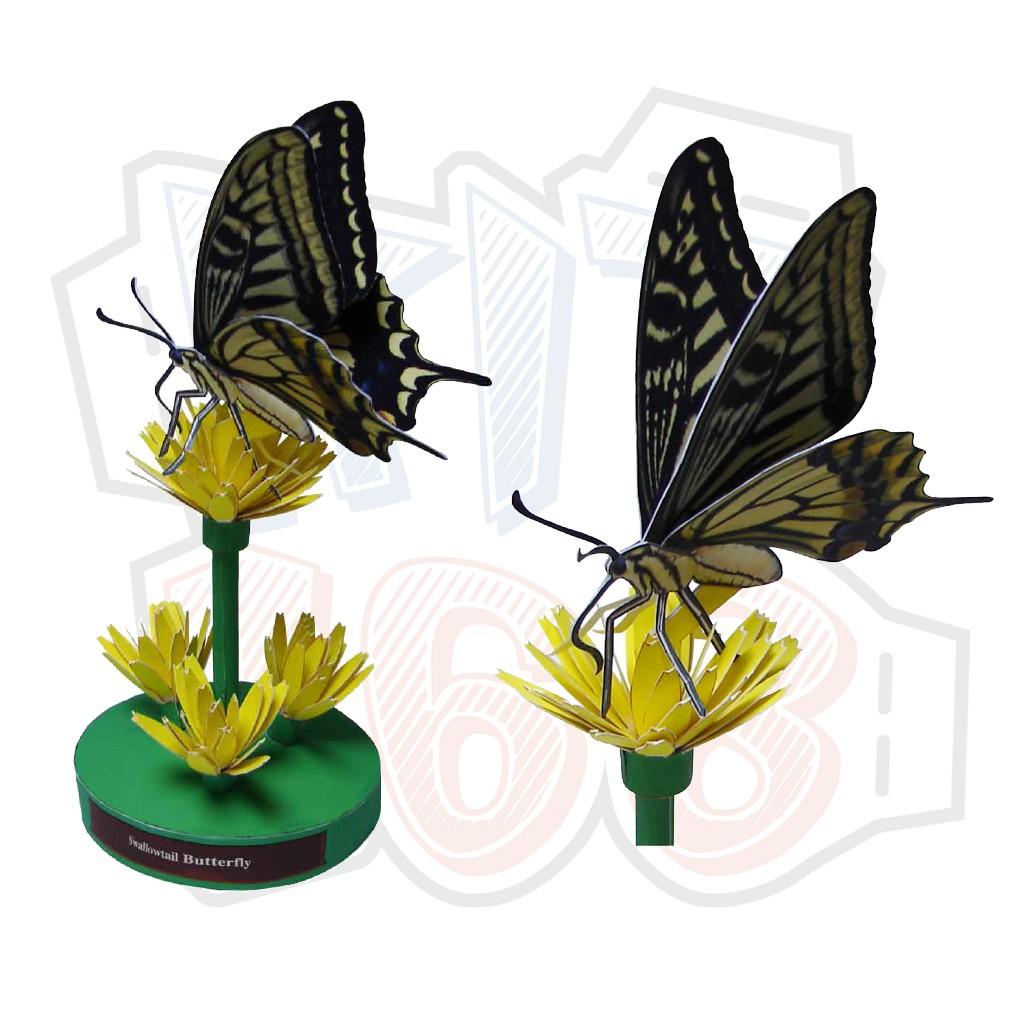 Mô hình giấy Côn trùng Bướm Swallowtail Butterfly