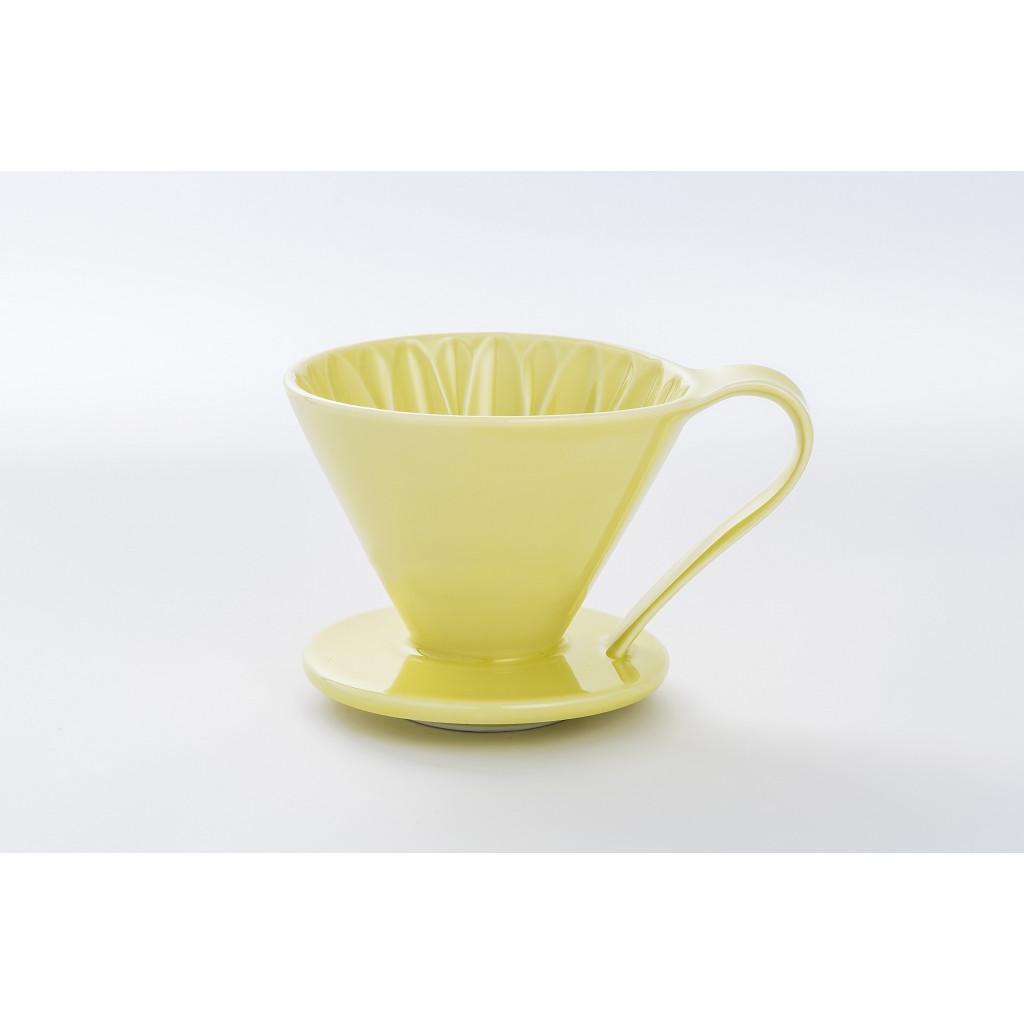 PHỄU PHA CÀ PHÊ CAFEC SANYO SANGYO V60 FLOWER DRIPPER – YELLOW