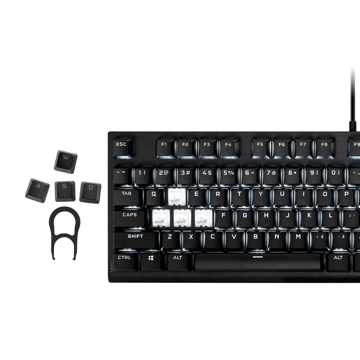 Keycap Corsair PBT Double-Shot PRO Onyx Black - Hàng Chính Hãng