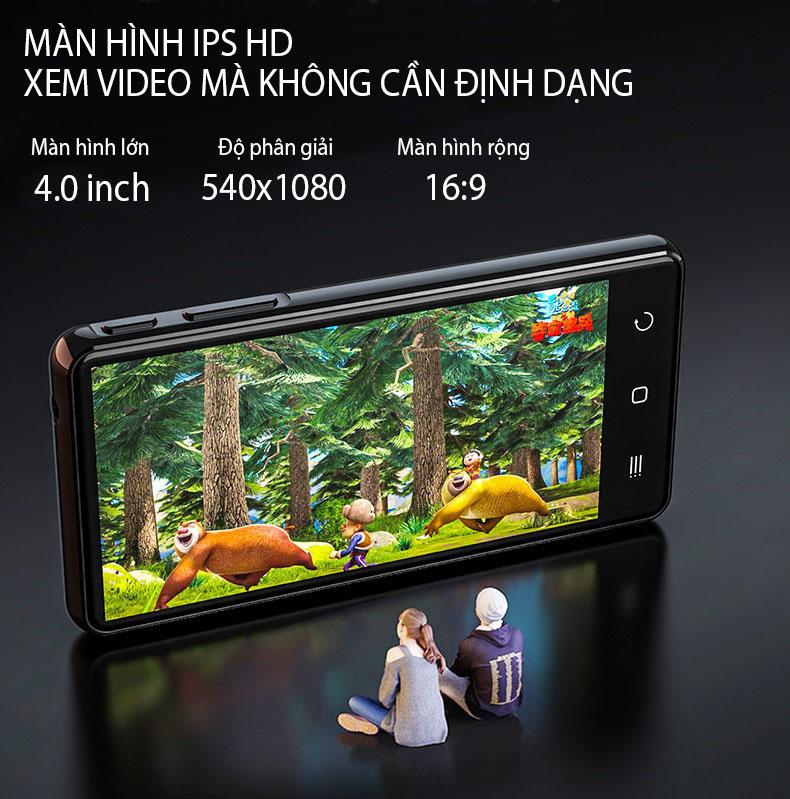 (Hỗ Trợ Tiếng Việt) Máy Nghe Nhạc Android MP4 Màn Hình Cảm Ứng 4.0 Inch Bluetooth WiFi Ruizu H8 Bộ Nhớ Trong 16GB - Hàng Chính Hãng