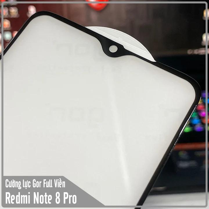 Kính cường lực Gor Full viền 9D cho Xiaomi Redmi Note 8 Pro - Hàng Nhập Khẩu