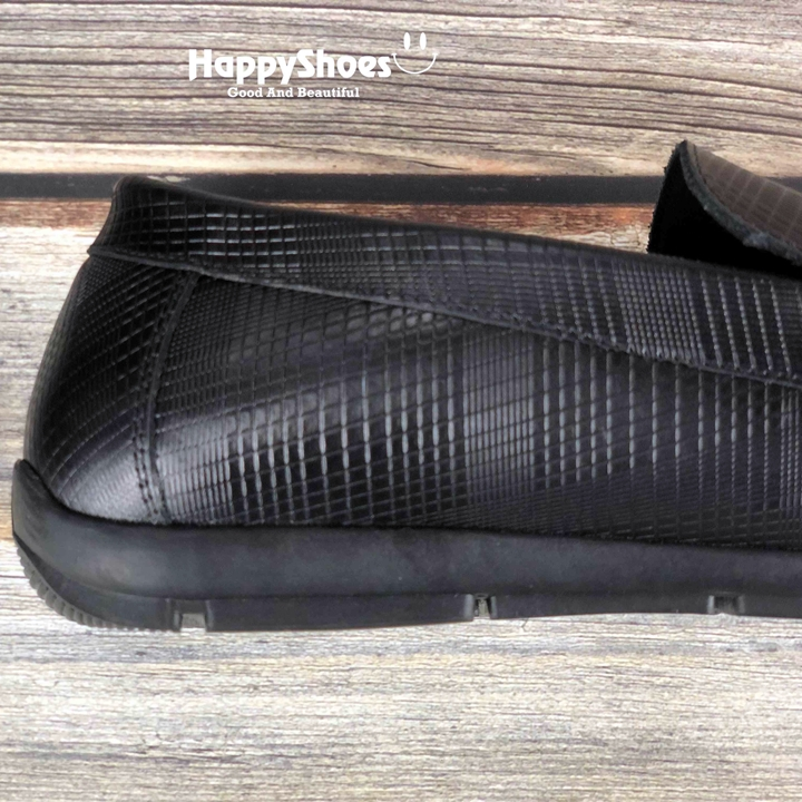 Giày lười nam da bò thật, đế cao su ép nhiệt chắc chắn, đường khâu tỉ mỉ-HS69