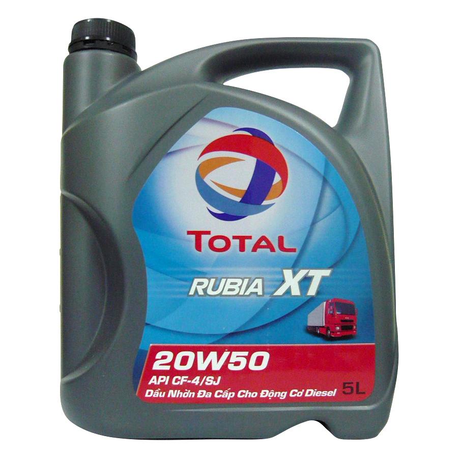 Nhớt Xe Ô Tô Total Rubia XT 20W50 (5L)