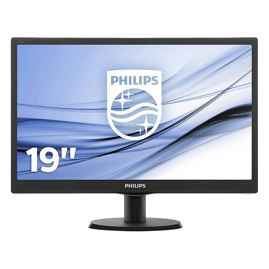 Màn Hình Máy Tính Philips 193V5LSB2 18.5 inch HD 5ms 60Hz TFT - Hàng Chính Hãng