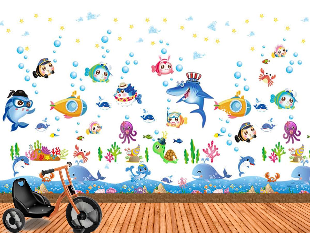 Decal dán tường cá đại dương sk7070