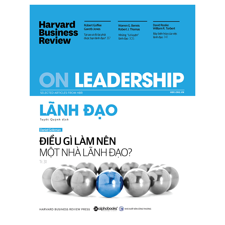 Harvard Business Review - ON LEADERSHIP - Lãnh Đạo