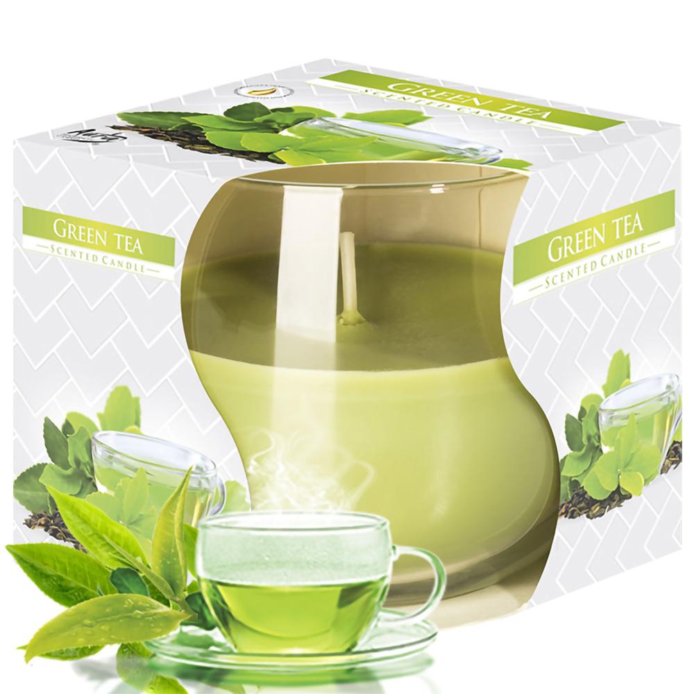 Ly nến thơm tinh dầu Bispol Green Tea 100g QT024783 - hương trà xanh