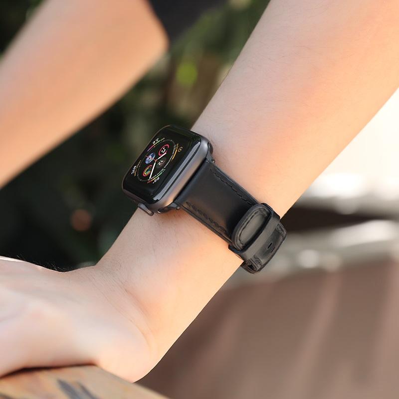 Dây da Apple Watch Hoco Fenix WB18 - Hàng nhập khẩu