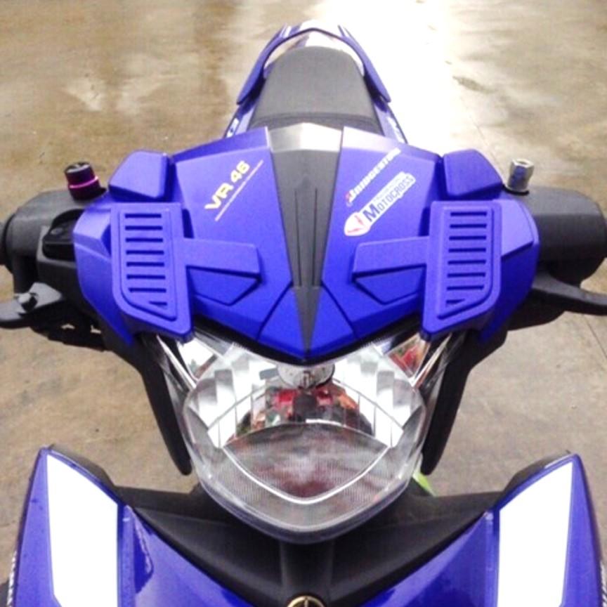 Mão kiểu siêu nhân Exciter 150 màu xanh ( Kiểu chữ Ngẫu Nhiên tùy theo đợt hàng về )