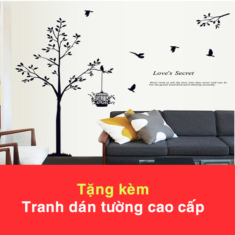 Đồng Hồ Treo Tường A30 (Tặng Decal Cây và Chim T15)