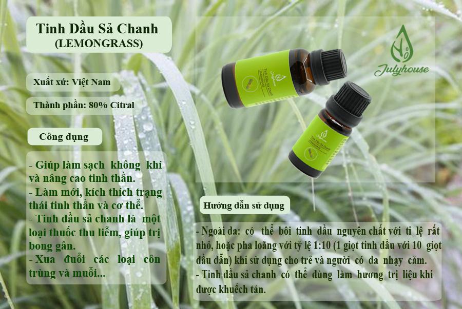 Tinh dầu Sả Chanh 10ml JULYHOUSE