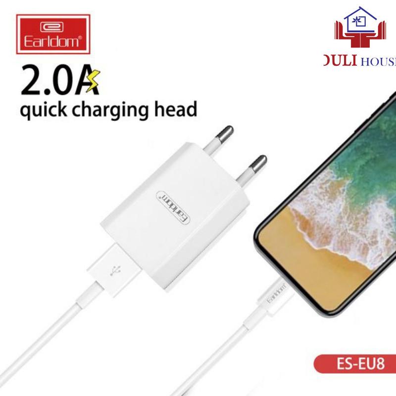 Cáp sạc nhanh cho iphone cao cấp Earldom 1M EC-025, 2A hỗ trợ sạc nhanh, không gây rối dây khi sạc, Hàng Chính Hãng