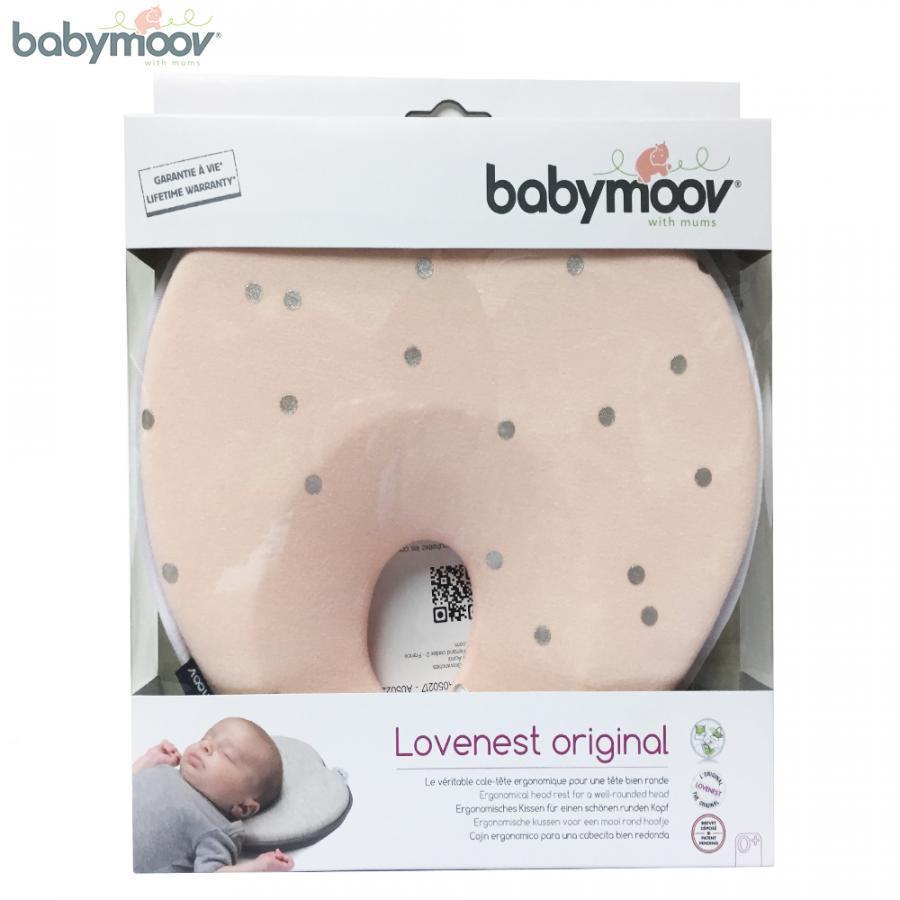 Gối chống bẹt đầu cho bé LOVENEST BABYMOOV (Màu hồng) BM15388 (PHÁP)
