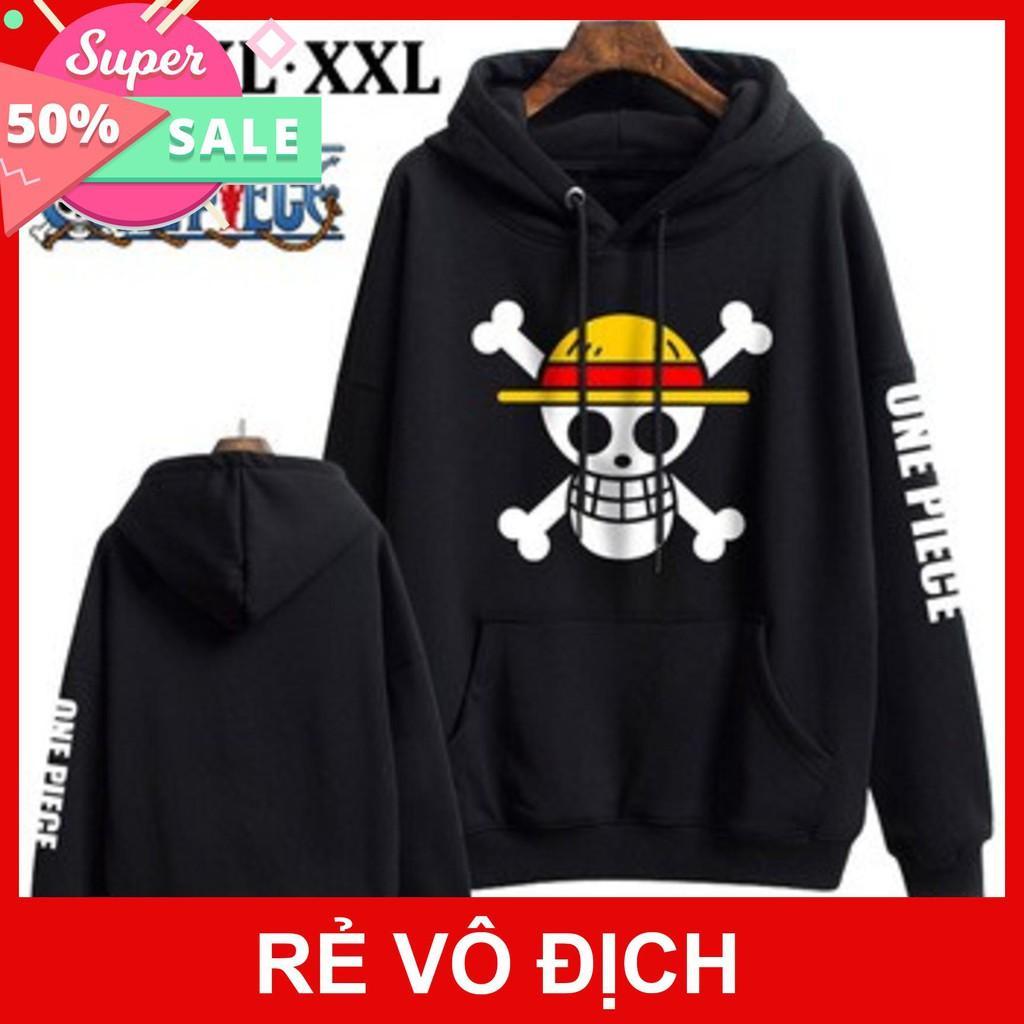 Áo khoác áo hoodie One Piece mũ rơm giá siêu rẻ nhất vịnh bắc bộ