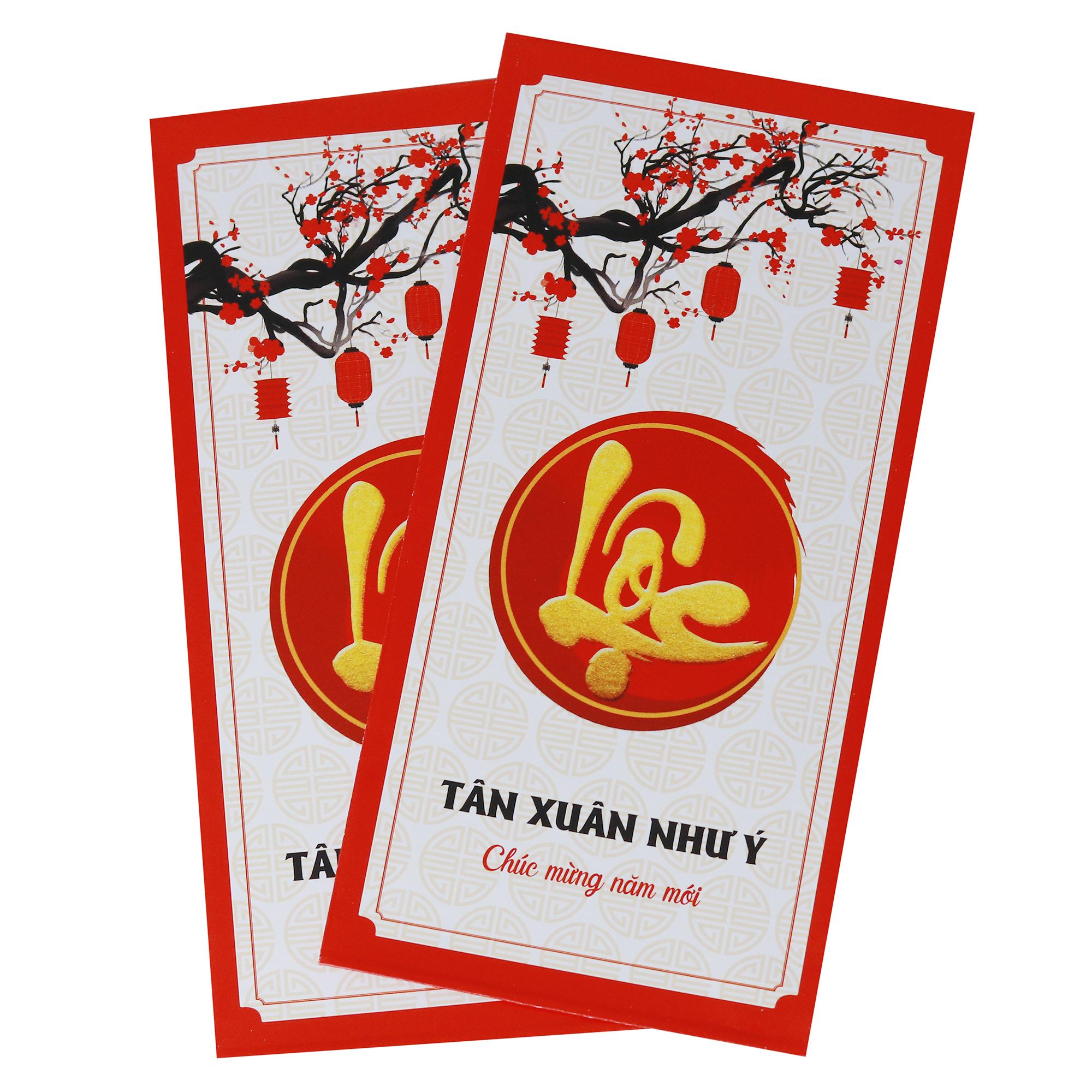 Bao Lì Xì Năm Mới Chữ Lộc (10 Cái)