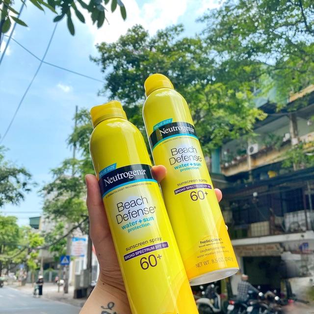 Chai xịt chống nắng neutrogena beach defense sunscreen lotion 60+ chai 240g