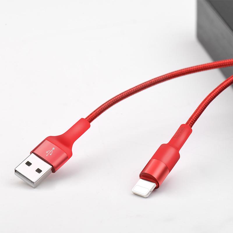 Cáp sạc dây dù chống đứt Hoco X26 Lightning 1M cho iPhone - Hàng chính hãng