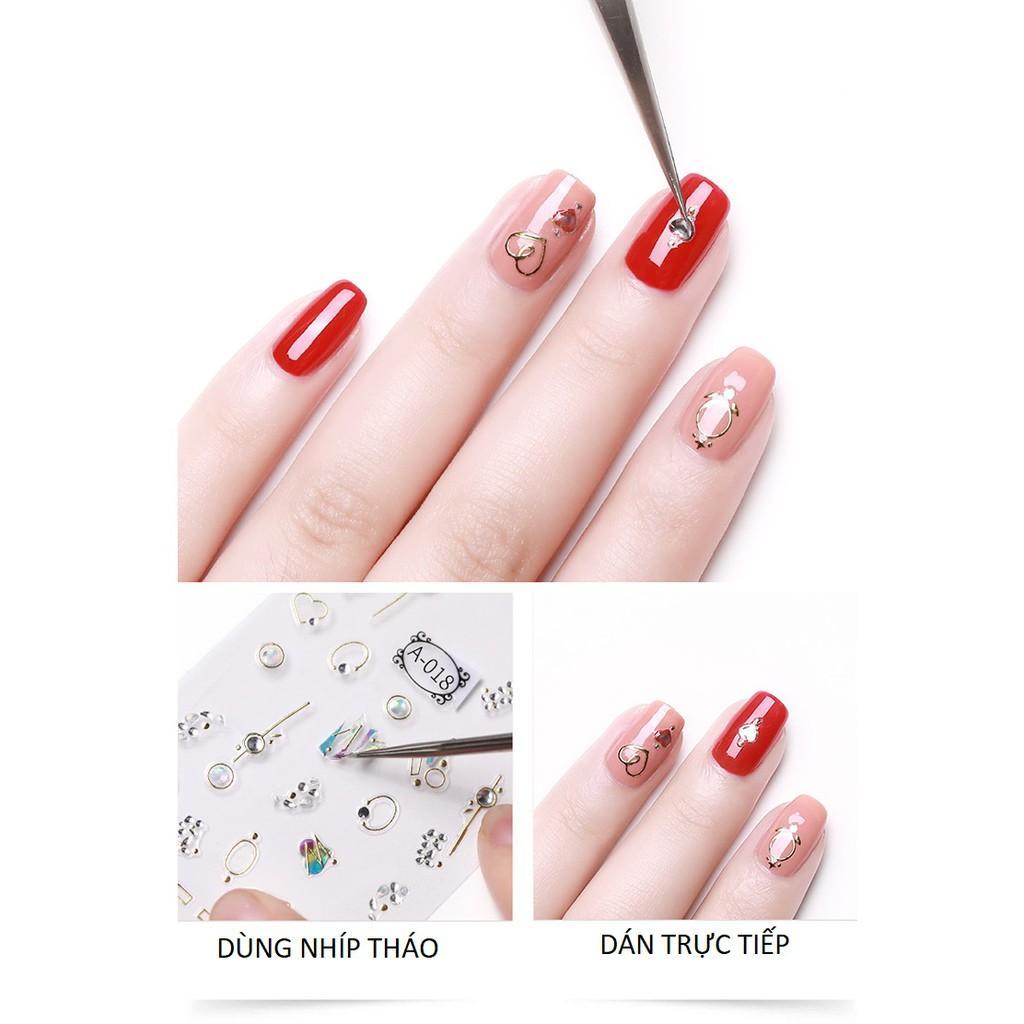 Sticker nails - hình dán móng 3D bồ công anh