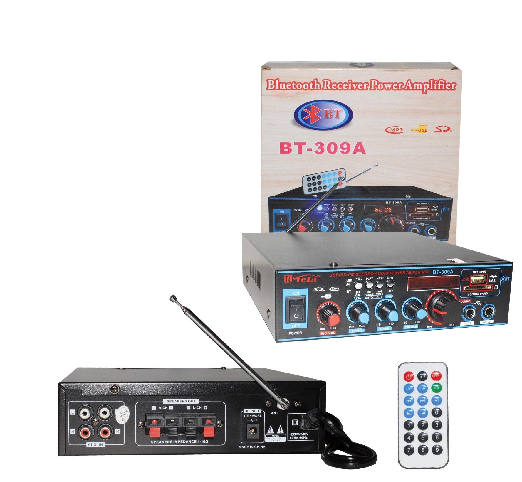 AMPLY MINI KARAOKE BLUETOOTH TELI BT-309A NGUỒN AC / DC