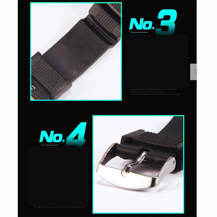 Đồng hồ điện tử nam và trẻ em đeo tay phong cách thể thao – DH018