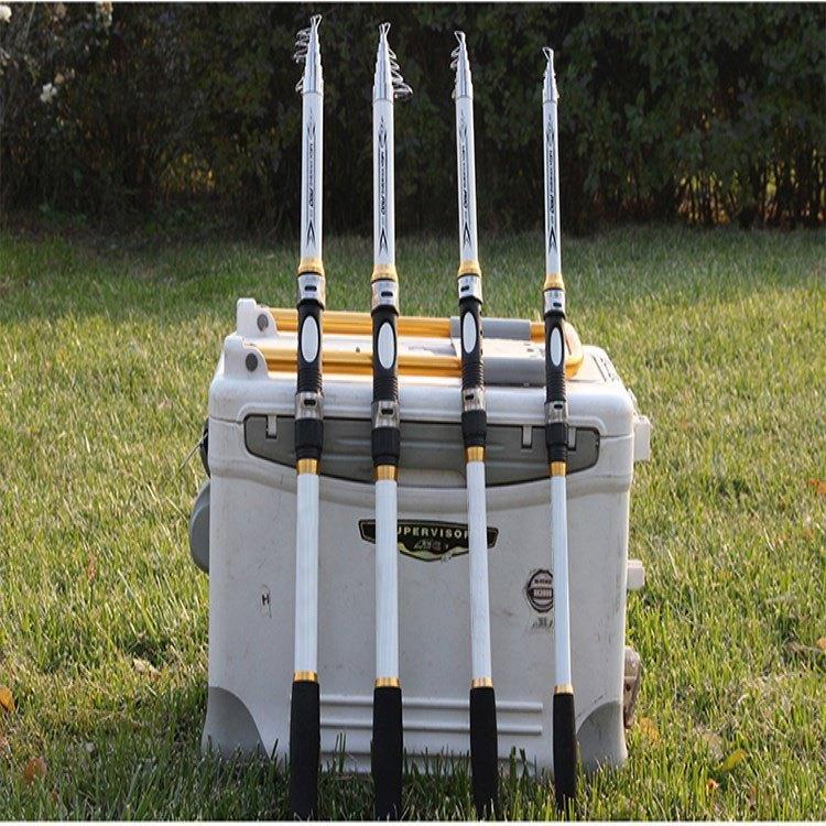 Cần câu cá carbon trắng - Kèm máy kim loại GF - Máy 3000 - Tặng 8 phụ kiện BCC94