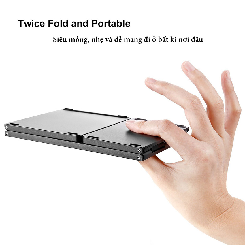 Bàn phím gấp gọn Bluetooth tích hợp chuột touchpad hỗ trợ chơi game B033 Aturos (màu Đen) - Hàng chính hãng