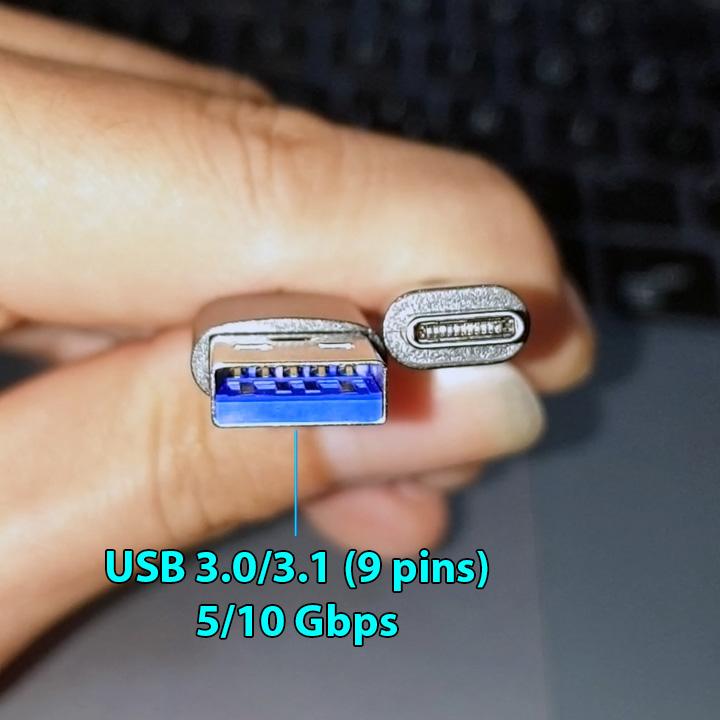 Cáp bọc dù USB3.1 type-C siêu bền gọn nhẹ 30cm