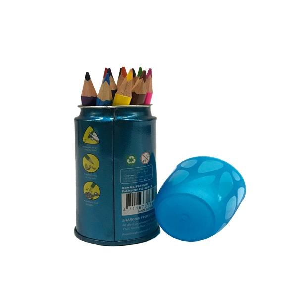 Bút Chì Màu Gỗ, Hộp Thiết Tròn 88mm WISHING TREE , 12 màu- Y PLUS - PC15020WT - Hộp Xanh Dương
