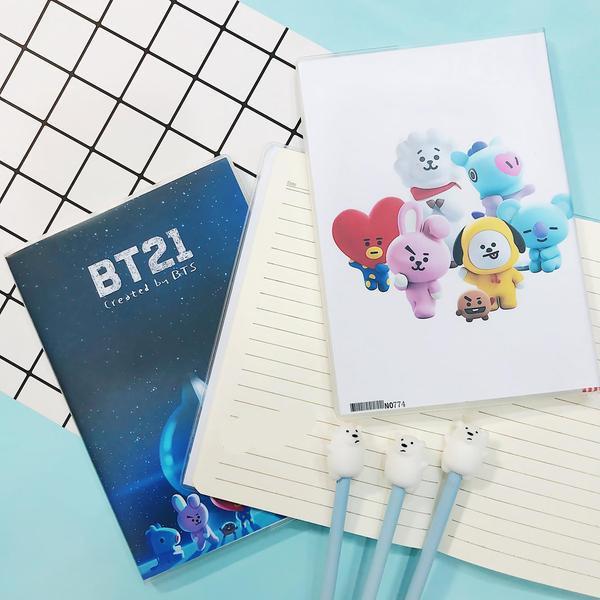 Sổ BT21 A5 tập vở viết học sinh tặng kèm bút BT21