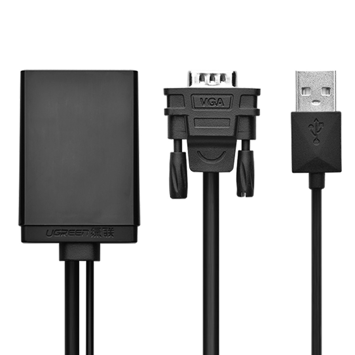 Bộ chuyển đổi tín hiệu VGA sang HDMI có Audio UGREEN 040213 (VGA to HDMI , Audio) - Hàng Chính Hãng