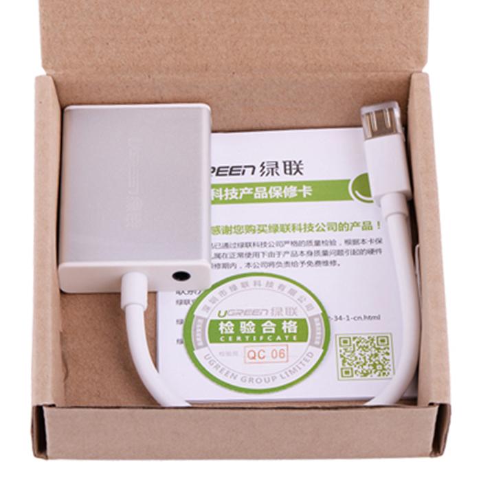 Cáp Mini Displayport To VGA + Audio Ugreen (10437) - Hàng Chính Hãng