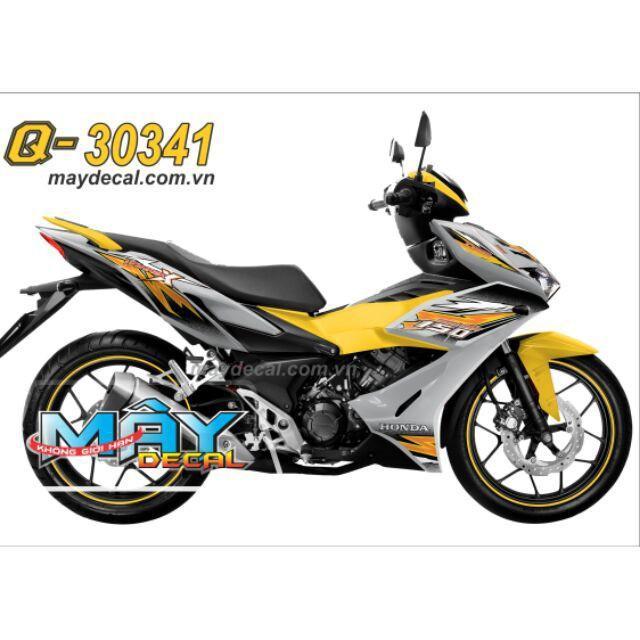Tem dán dành cho xe máy Winner X xám bạc (bộ)
