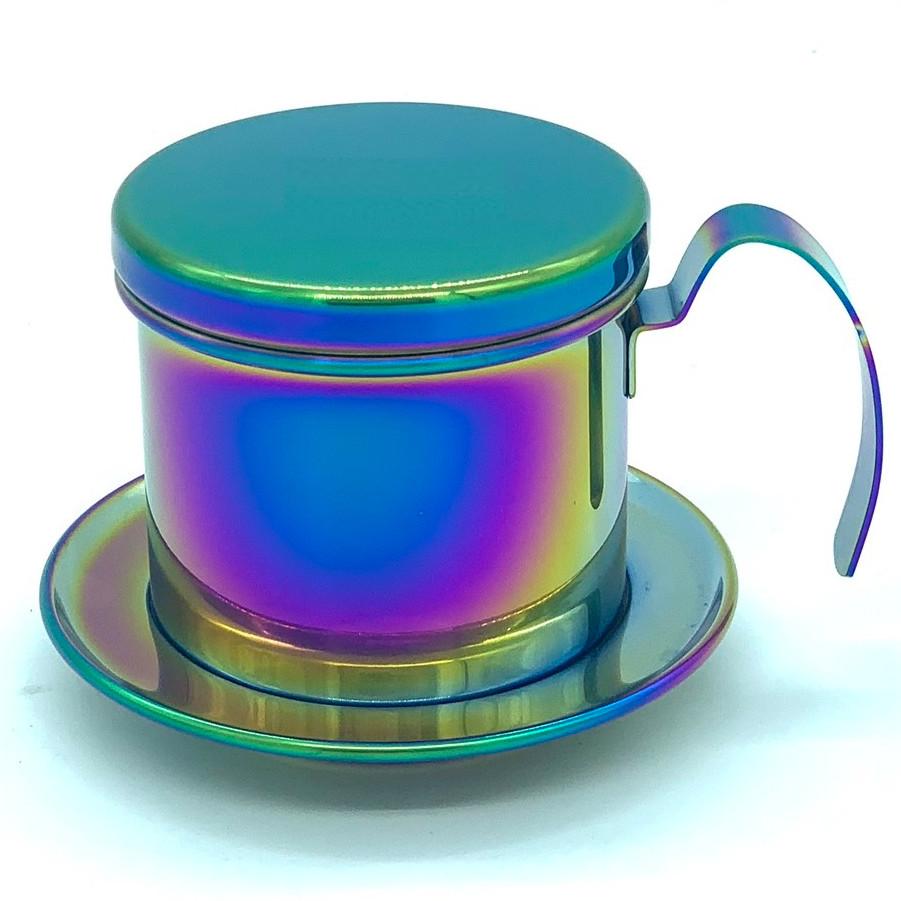 Phin pha cà phê inox cao cấp( Mạ Màu Titanium)