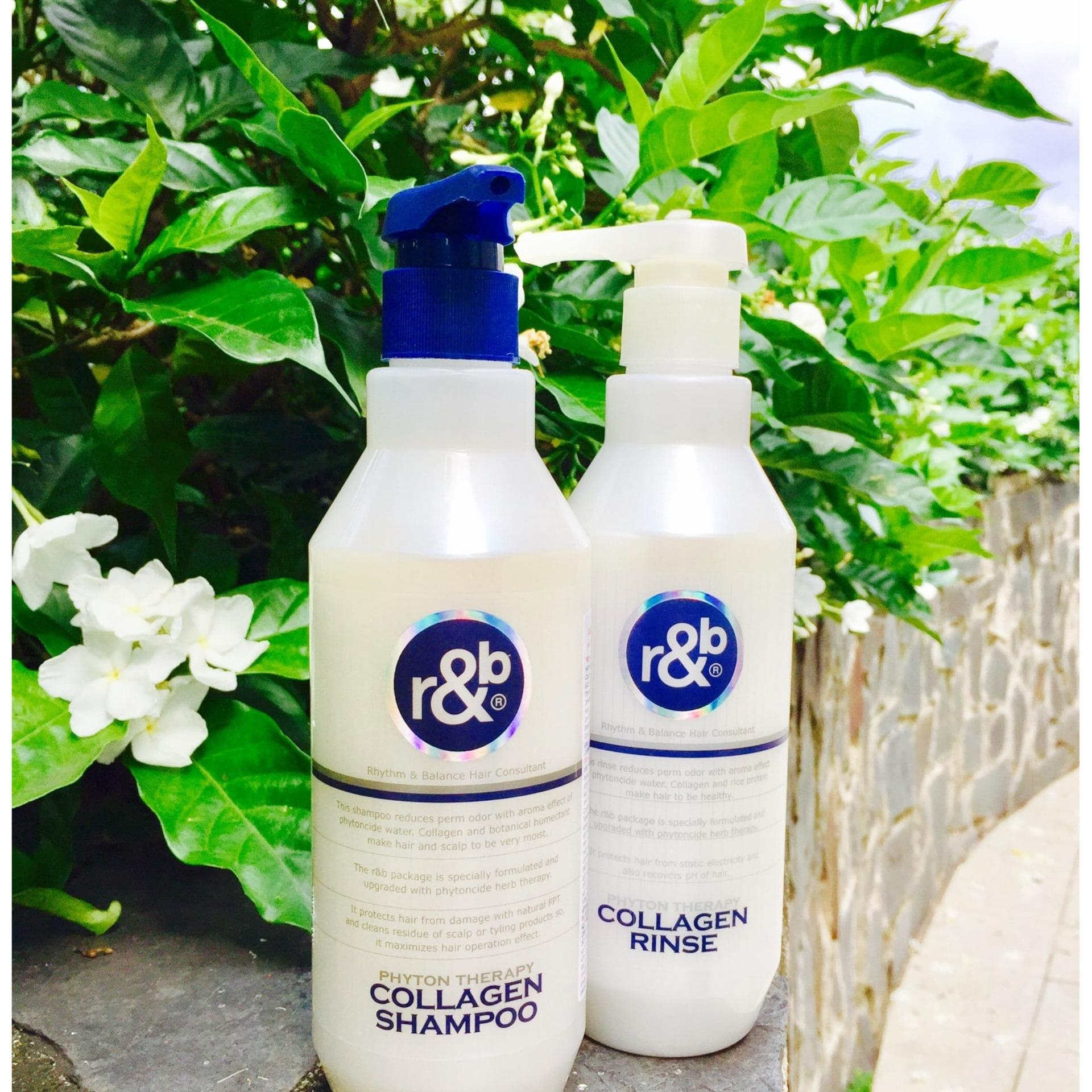 Dầu gội Collagen cho tóc bóng mềm giảm mùi hôi ngăn tóc bạc sớm R&B Collagen Shampoo, Hàn Quốc 1500ml