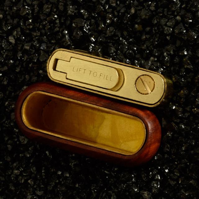Hộp Quẹt Bật Lửa Xăng Đá Z540-1, Chất Liệu Đồng Ốp Gỗ Đàn Hương Cao Cấp