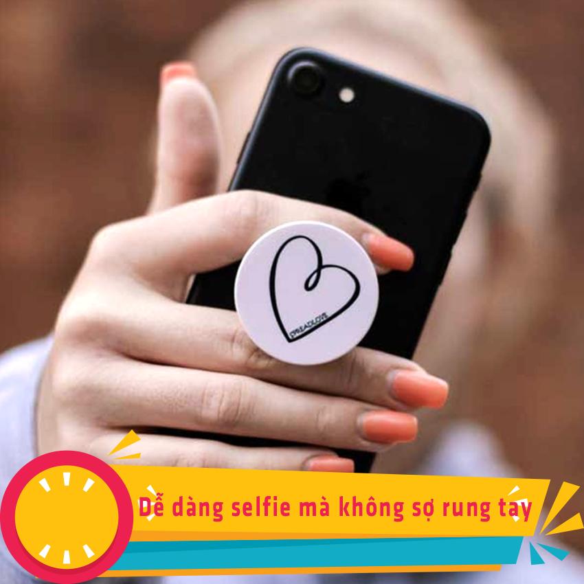 Gía đỡ điện thoại đa năng, tiện lợi - Popsockets - In hình HEART 11 - Hàng Chính Hãng