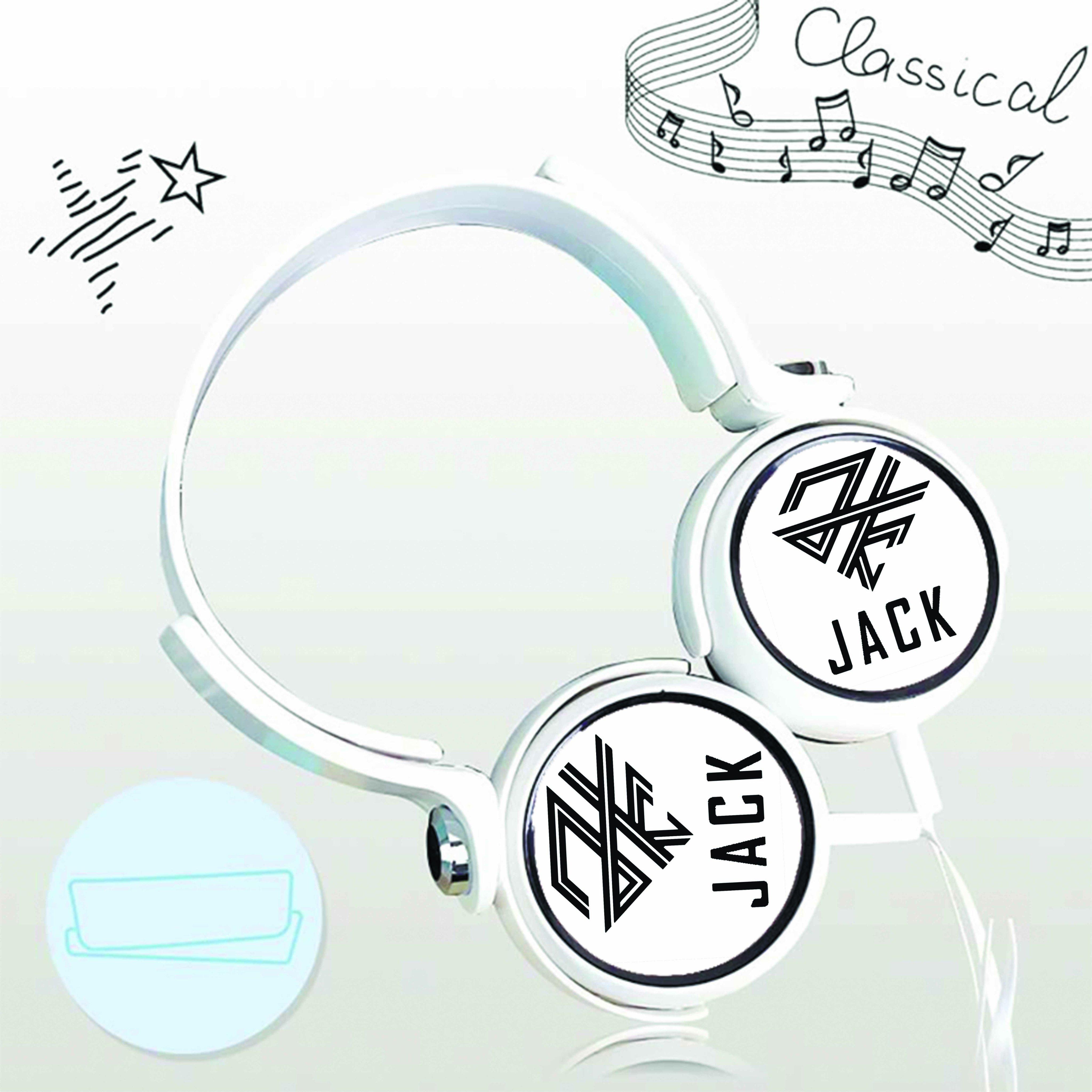 Tai nghe chụp in logo Jack K-ICM cắm dây có mic