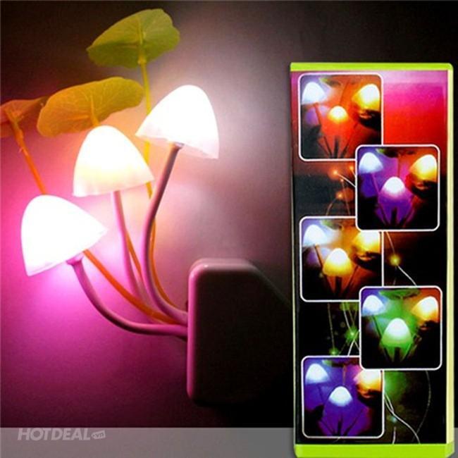 Đèn Led ngủ cảm ứng ánh sáng hình cây nấm loại tốt