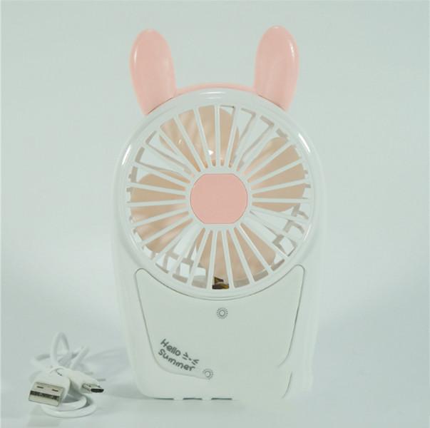 Quạt sạc mini cầm tay có đèn Led V10 tặng kèm 1 gương mini (màu ngẫu nhiên)