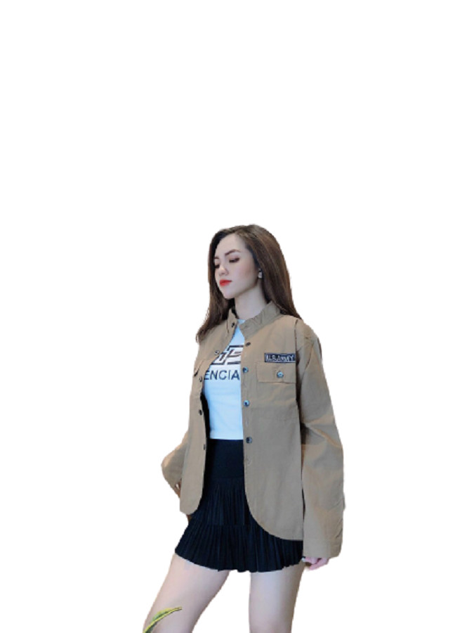 Áo khoác kaki nữ cá tính