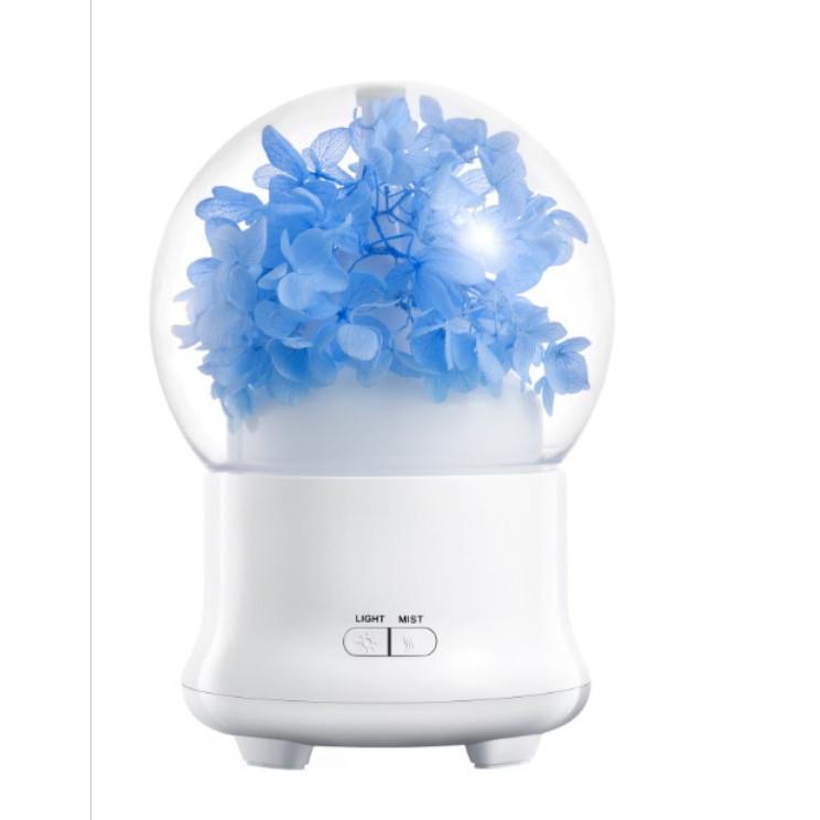 Máy xông tinh dầu, phun sương Quả Cầu Hoa LED 7 màu cao cấp 2019 + tặng 1 lọ tinh dầu 10ml
