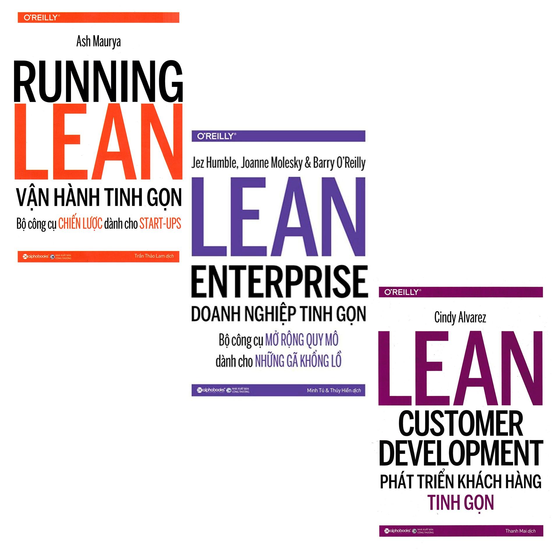 Combo Sách Kinh Doanh : Running learn - Vận Hành Tinh Gọn + Doanh Nghiệp Tinh Gọn + Phát Triển Khách Hàng Tinh Gọn